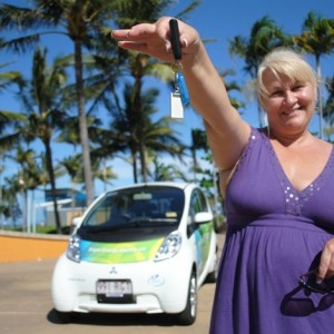 Townsville's sparked-up the electric car