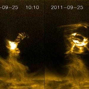 Solar Tornado Rips Through The Corona