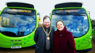Electric Bus Charged by Wireless Technology