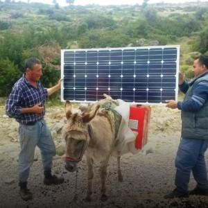 Portable solar panels for Turkish nomads