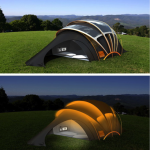 Solar powered tent – providing energy outdoors