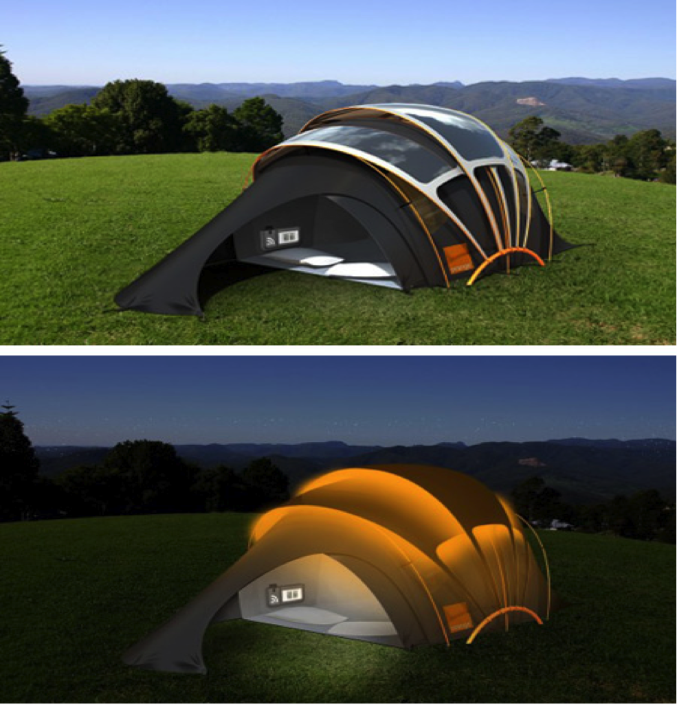 Solar Powered Tent Providing Energy Outdoors