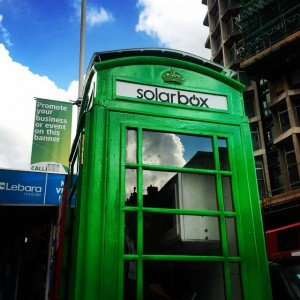 Solarbox transforming London's iconic red phone booths into solar chargers