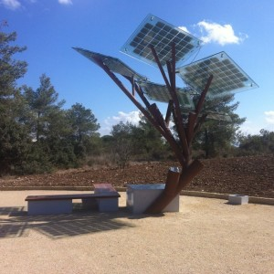 Solar tree development in Israel able to charge cell phones