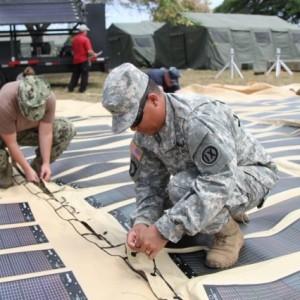 Obama administration training of Veterans in solar installation