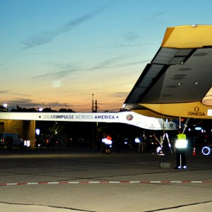 Solar powered plane completes first leg of round-the-world trip