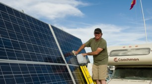 Caravan solar panels- travel using clean and cheap power.