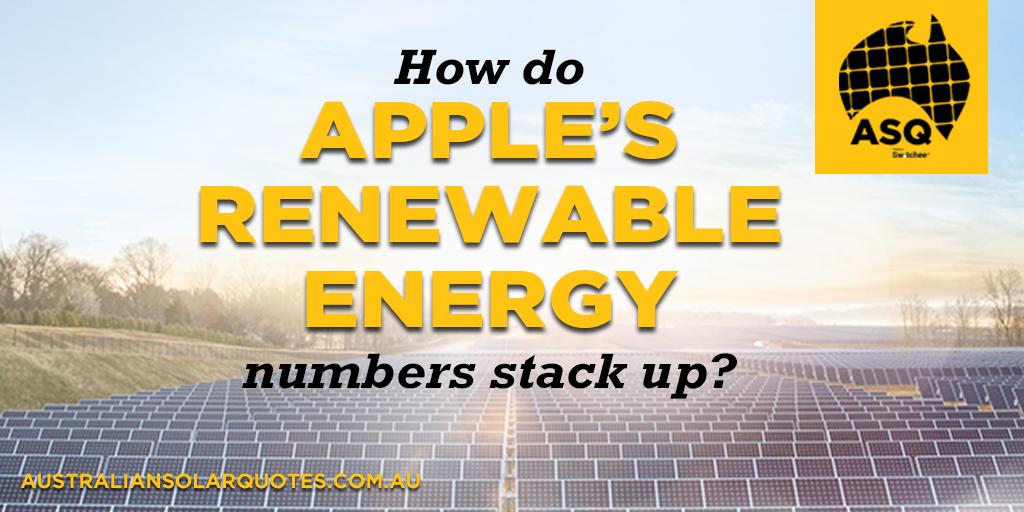 Apple on renewable energy