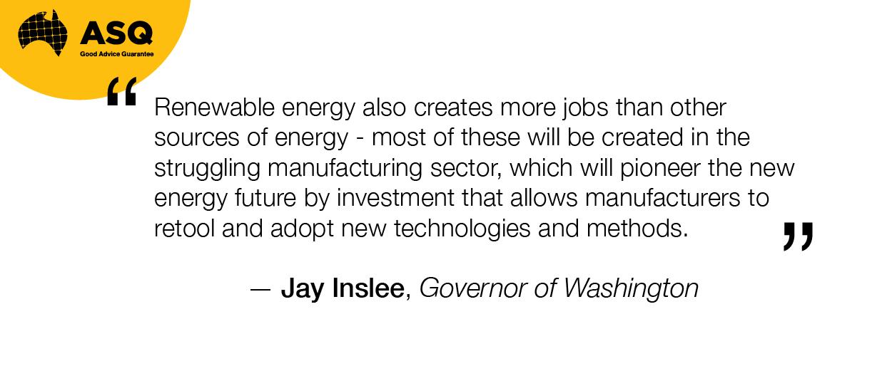 Renewable Energy Creates Jobs - Jay Inslee