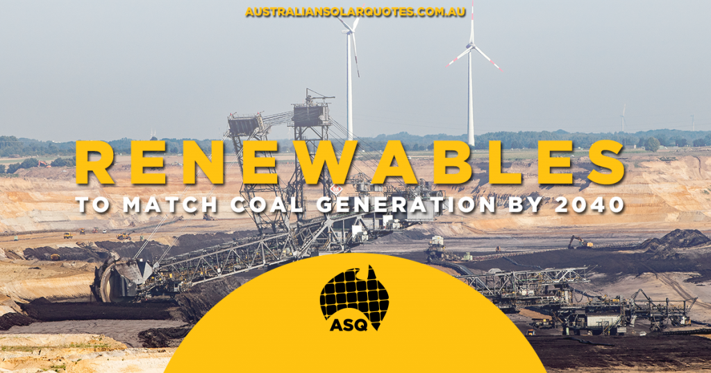 Renewables to match coal generation by 2040