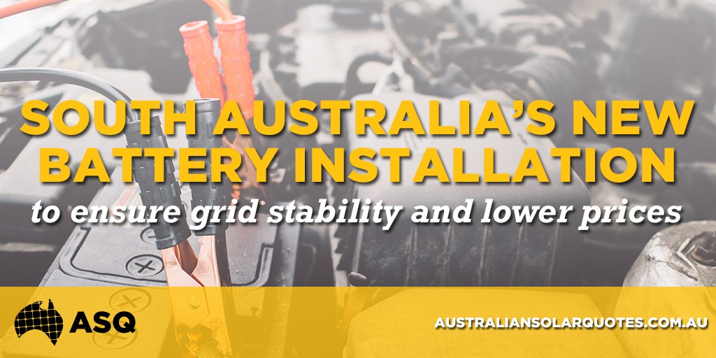 South Australia's new battery installation to ensure grid stability and lower prices