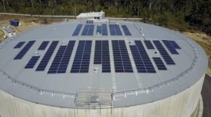 Solar & Tesla Powerpack cleaning Logan City's water